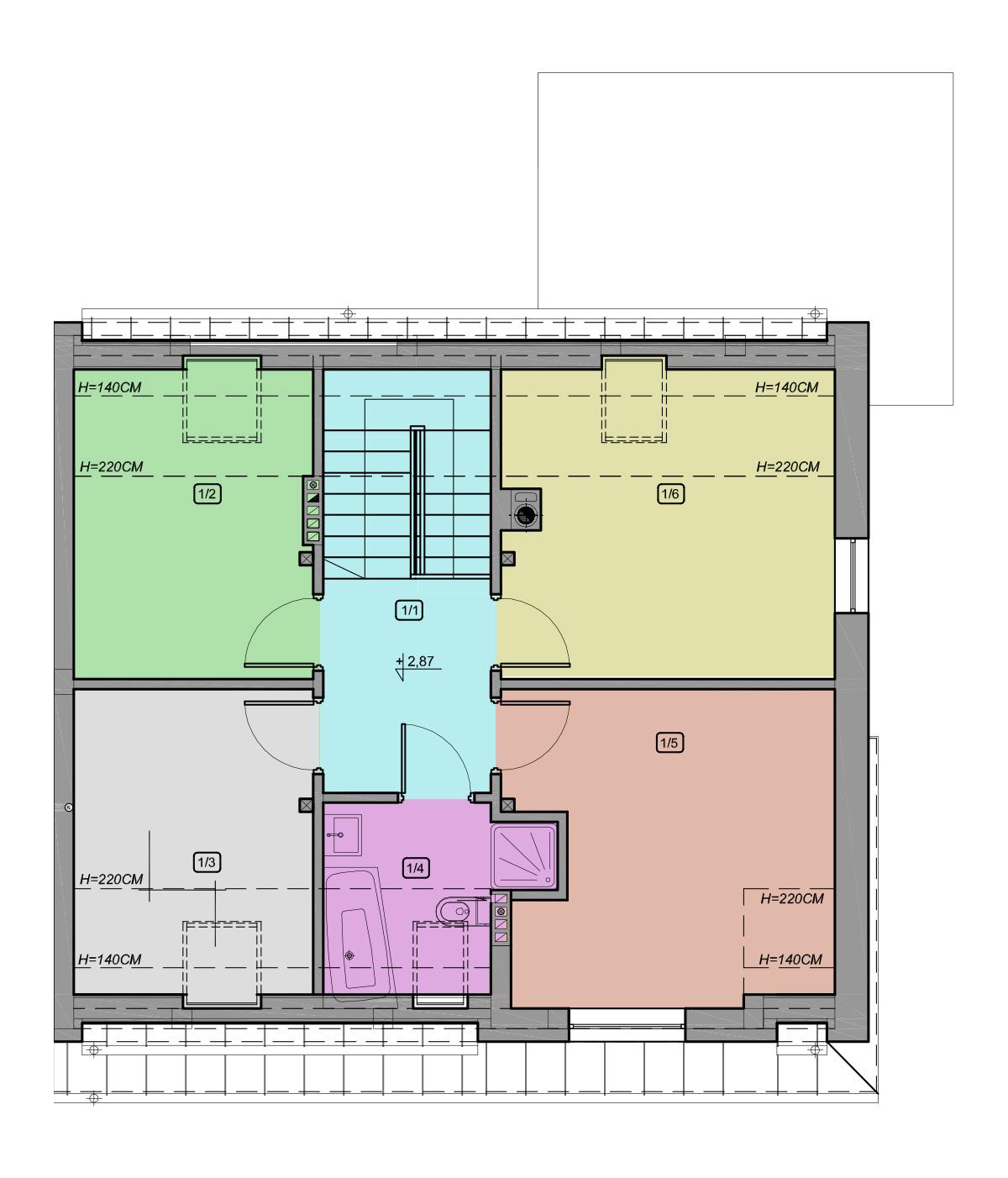 typ 1 piętro